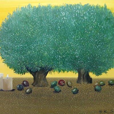 [A1041-0018] <<올리브 나무 아래서 기도 >>