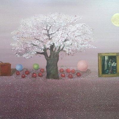 [A1041-0028] 베르메르의 창-벚나무 풍경