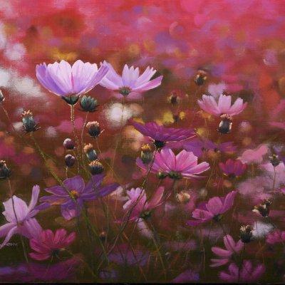 [A1044-0063] 노을에 핀 꽃