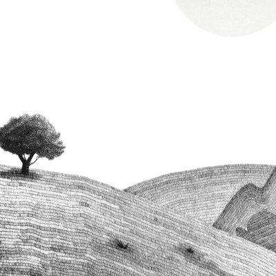 [A1049-0015] 언덕 위의 나무