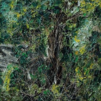 [A1050-0087] 조립된 풍경 - 지리산3(나무와 바위)