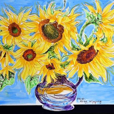[A1050-0213] Dancing Sunflowers 17