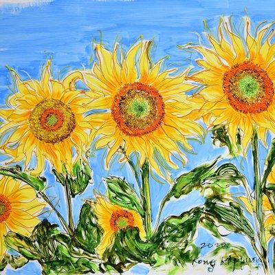[A1050-0215] Dancing Sunflowers 23