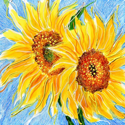 [A1050-0218] Dancing Sunflowers 9