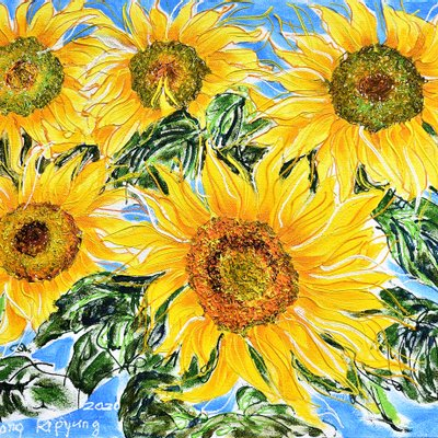 [A1050-0222] Dancing Sunflowers 30