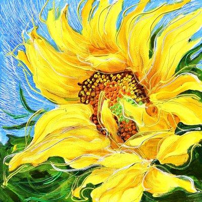 [A1050-0233] Dancing Sunflowers 16