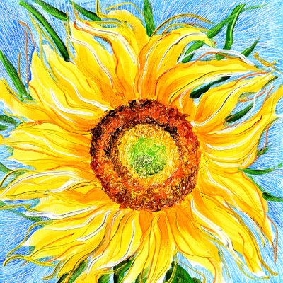 [A1050-0236] Dancing Sunflowers 12