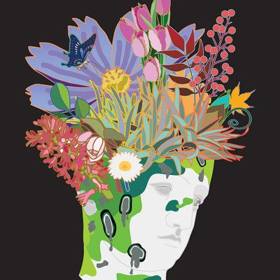 [A1055-0001] 침묵의정원1-꽃과나비
