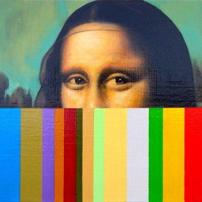 [A1058-0018] Mona Lisa-barcode