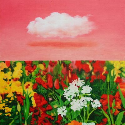 [A1058-0033] Made in Nature- Cloud & Flowers.
