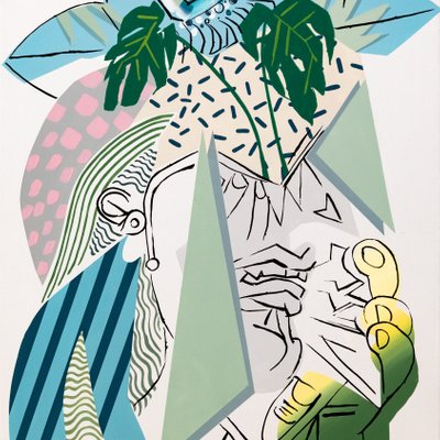 [A1081-0011] Picasso weeping woman 02