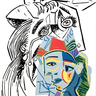 [A1081-0013] Picasso weeping woman 04
