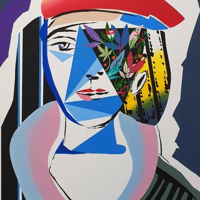 [A1081-0014] Picasso woman hommage01