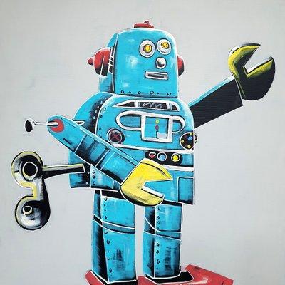 [A1081-0046] Space blue robot