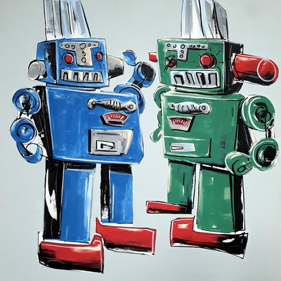 [A1081-0047] Smoking twin robot