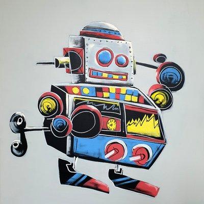 [A1081-0049] Silver robot