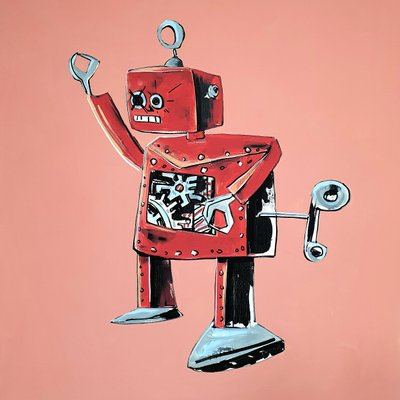 [A1081-0050] Red robot