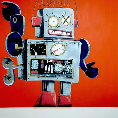 [A1081-0053] Gray robot
