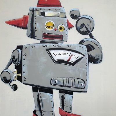 [A1081-0054] Gray winky robot