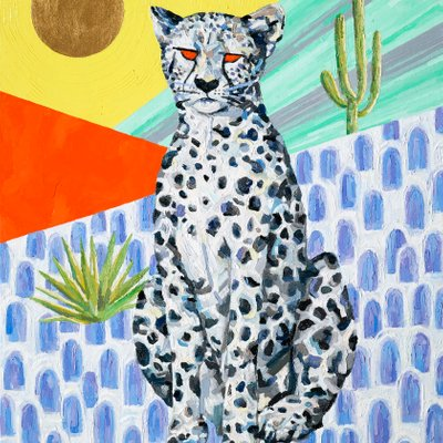 [A1084-0009] Orange_eyed snow leopard