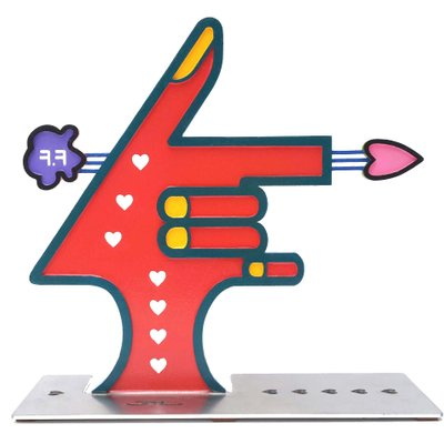 [A1085-0237] Love Gun(Cupido)-1 (양면채색, 스탠드 벽걸이 동시 가능)