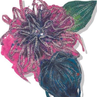 [A1091-0021] 끈-꽃 한송이