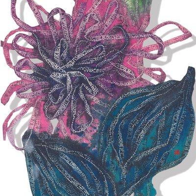 [A1091-0022] 끈-꽃 한송이
