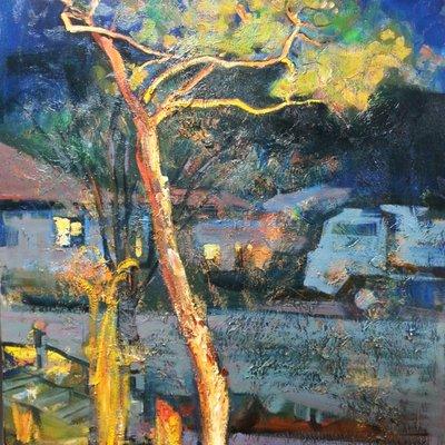 [A1101-0264] 밤의 정원-소나무