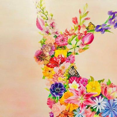 [A1106-0034] 꽃사슴 (FLOWER series)