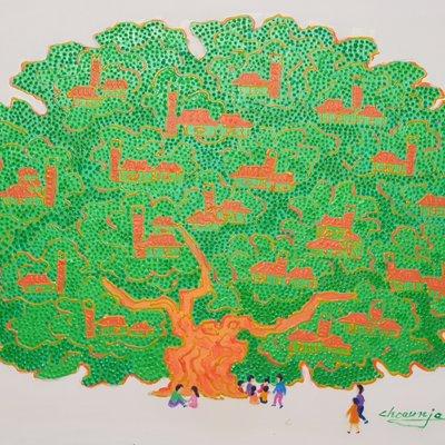 [A1123-0042] 왕버드나무39(king tree)