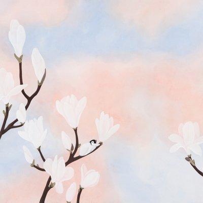 [A1127-0010] 休(휴)-木蓮(목련)