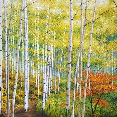 [A1136-0028] 숲-좋은날