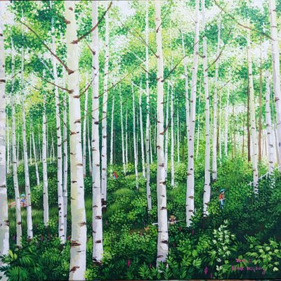[A1136-0056] 숲-좋은날