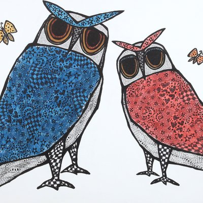 [A1137-0086] (project b 2020) - owl couple