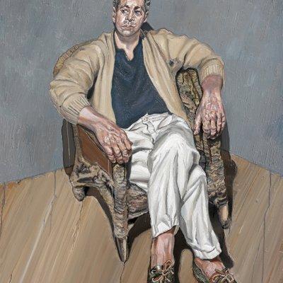 [A1149-0001] 끈 의자에 앉은 남자