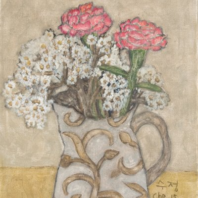 [A1173-0016] 물병 안의 정원 꽃과 카네이션