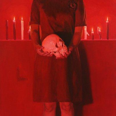 [A1196-0005] Red #3 skull