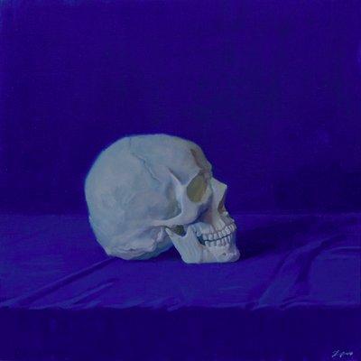 [A1196-0023] Blue #6 skull