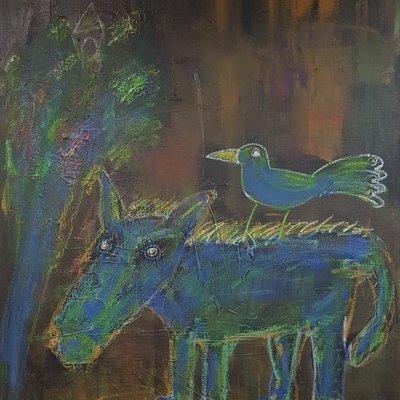 [A1197-0021] 꿈 꾸는 푸른 말