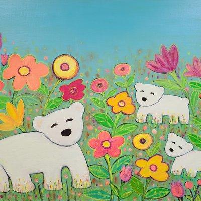 [A1198-0058] 곰가족의 행복한 시간