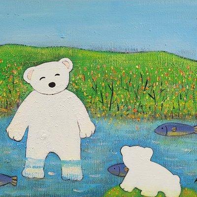 [A1198-0073] 곰가족의 여름이야기