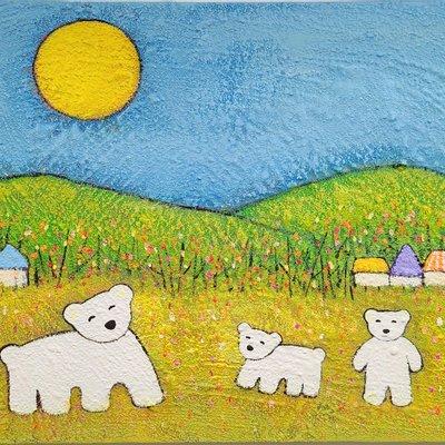[A1198-0100] 곰가족의 행복한 시간