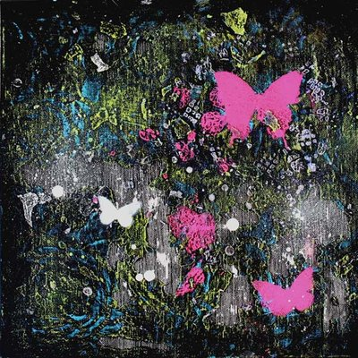 [A1213-0038] Butterfly flying Ⅰ