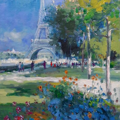 [A1224-0026] 에펠탑이 보이는 공원