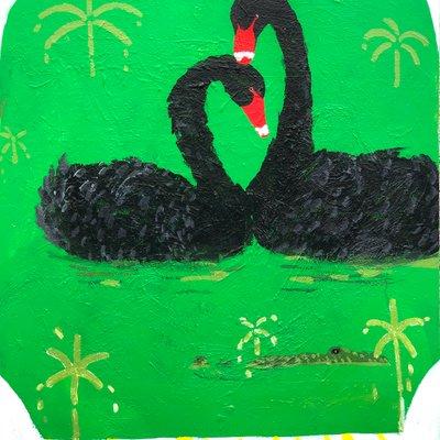 [A1225-0027] Black swan lake