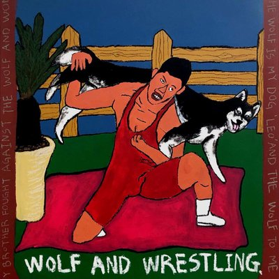 [A1239-0007] WOLF AND WRESTLING