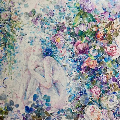 [A1251-0019] 여인·꽃 (15호)