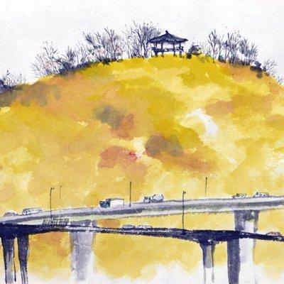 [A1257-0009] 응봉산의 봄