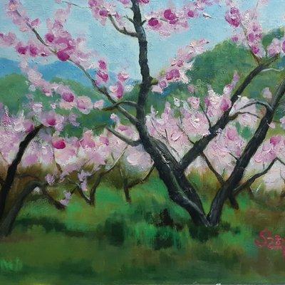 [A1261-0009] 행복을 부르는 봄 (복사꽃)