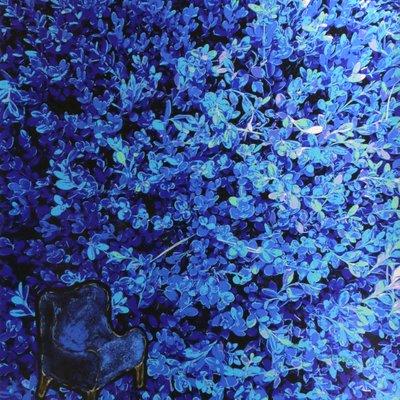 [A1262-0019] Garden series - Deep Blue Garden